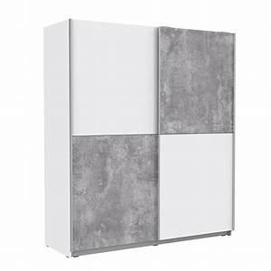 Schwebetürenschrank 160 Cm Breit : schwebet renschrank ca 170 cm w rfel winner von forte wei beton ~ Eleganceandgraceweddings.com Haus und Dekorationen