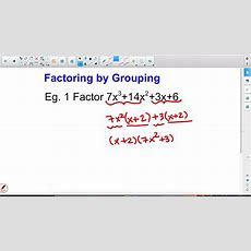 Factoring By Grouping When Gcf=1 Youtube
