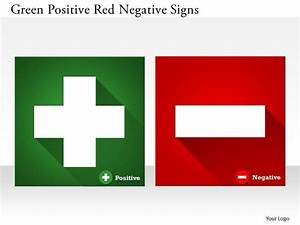 0314 business ppt diagram green positive red negative ...