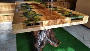 Tisch Mit Epoxidharz : table coffee wood and epoxy resin dining table solid wood pinterest tisch und m bel ~ Sanjose-hotels-ca.com Haus und Dekorationen