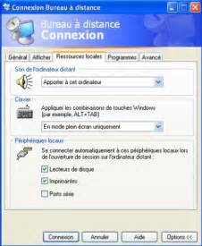 connection bureau à distance windows 7 vista prise controle distance