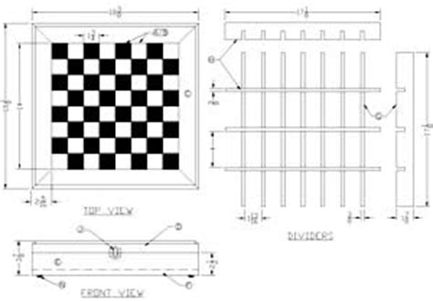 build  chessboard chest  lees wood projects