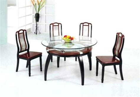 20 Collection Of Black Glass Dining Tables And 4 Chairs