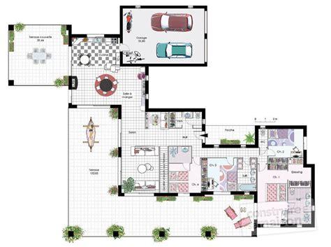 plan maison 4 chambres plain pied plan maison plain pied 4 chambres avec suite parentale ukbix