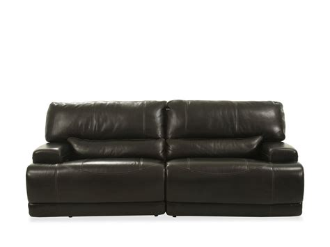 power reclining leather  sofa  blackberry mathis