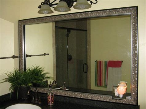 Bathroom Mirror Frame Kits by Bathroom Mirror Frames That Stick To Your Existing Mirror