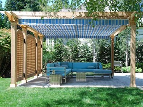 roof terrace ideas diy retractable pergola shade canopy