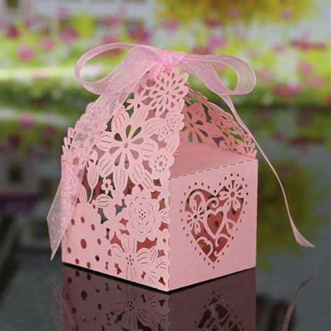Buy OULII Laser Cut Romantic Butterfly Candy Boxes DIY