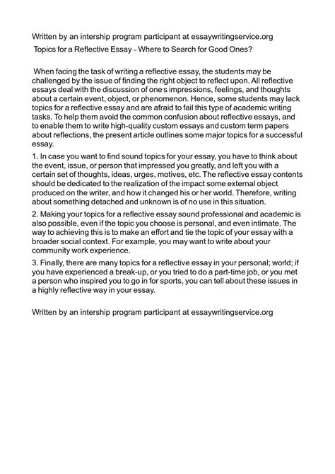 reflective essay  format unique informal examples   reflection thatsnotus