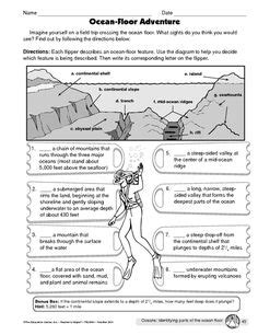 Mapping The Ocean Floor  A Free Printable Map Of The