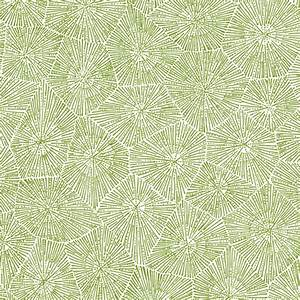 petoskey-stone pattern, moss green on white fabric ...