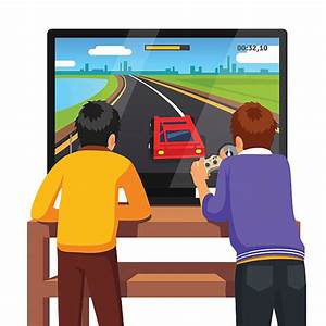 Royalty Free Playing Computer Games Clip Art, Vector ...