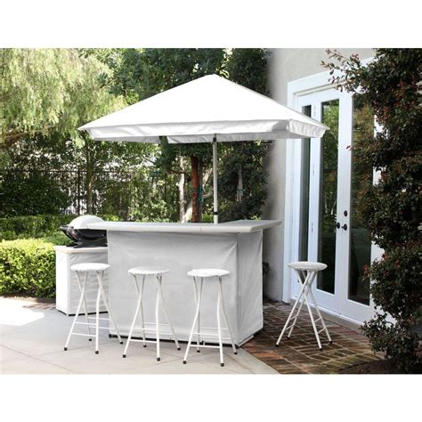 best of times solid white 6 piece all weather patio bar