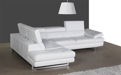 Contemporary White Sofa by Contemporary White Leather Sectional With Curved Armrest