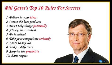 Bill Gates's Top 10 Rules For Success - Inspiring - Writer ...
