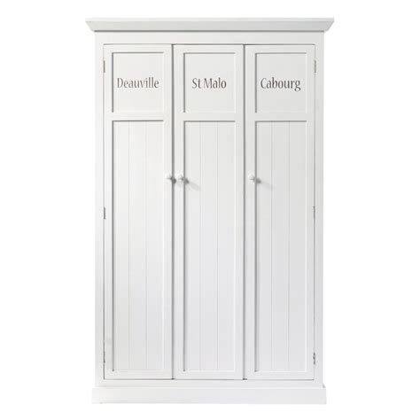 vestiaire en bois blanc l 125 cm newport maisons du monde
