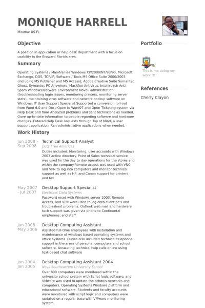 technical support analyst resume sles visualcv resume