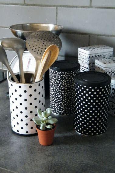 boite cuisine faire pot de rangement de cuisine avec une boite de conserve