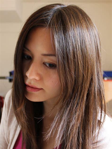 stunning brown highlights  black hair creativefan