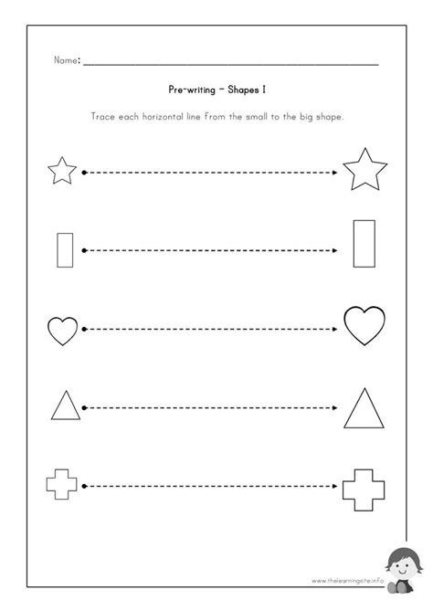 learning site pre writing worksheets shapes