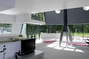 Architecture. Office Futuristic Interior Design: Ceramic ...