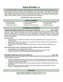 management consulting resume keywords free investment consultant resume exle