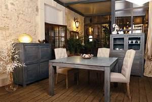 salle a manger en teck fer forge deco pour salle a manger With salle À manger en fer forgé pour deco cuisine