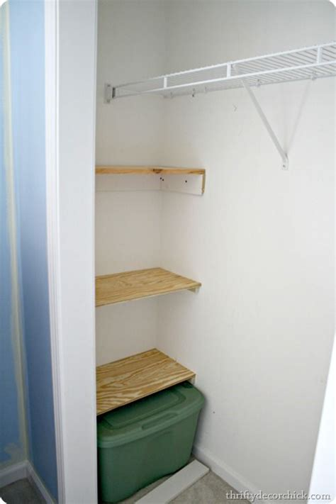 building shelves in closet ideas
