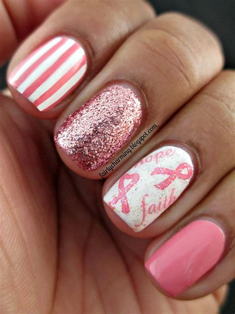 breast cancer nail designs fairly charming joby nail s fight against breast cancer