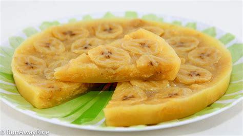 Cetakan Banana Steam Cake steamed banana cake banh chuoi hap runawayrice