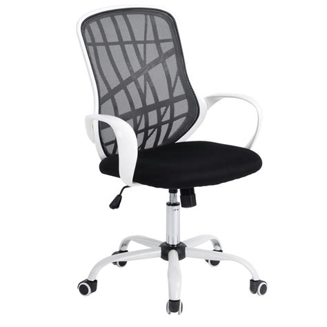 aingoo white base office chair with arms office computer