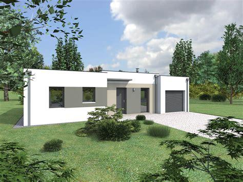 maison contemporaine plain pied toit plat ventana