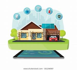 Smart Home Modern Future House Vector Stock Vector  Royalty Free  351296987