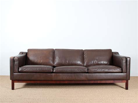 canapé en cuir canapé danois 3 places en cuir galerie møbler