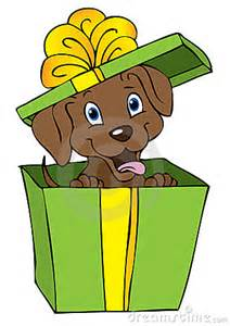 Dog Cartoon Birthday Presents