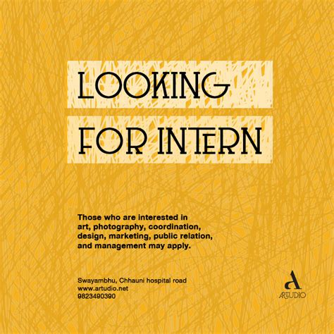 intern opportunity internship opportunity at artudio