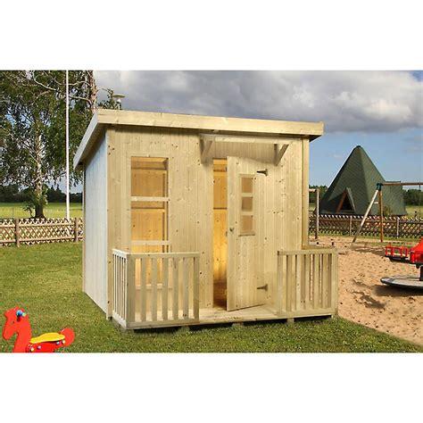 kinder gartenhaus holz kinderspielhaus lars 199x163 cm gartenhaus holz f kinder mit pultdach flachdach ebay