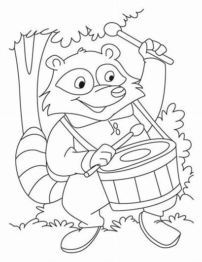 Raccoon Coloring Pages Animals Animal Mario Template