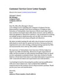 Resume Cover Letter Sle For Customer Service Customer Service Cover Letter Sles Resume Genius