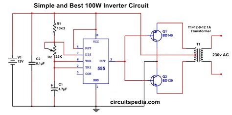 Simple Inverter Circuit Using