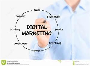 Digital Marketing Diagram Structure Stock Image