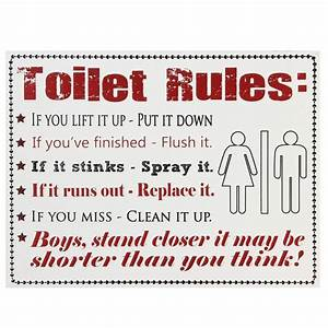 Toilet rules wooden sign modern bathroom toilet for Male bathroom etiquette