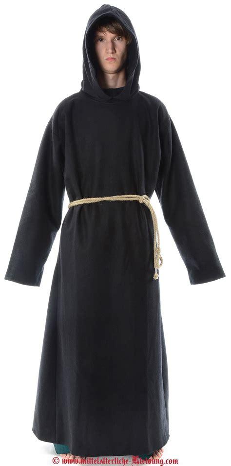 medieval monks robe felt closed