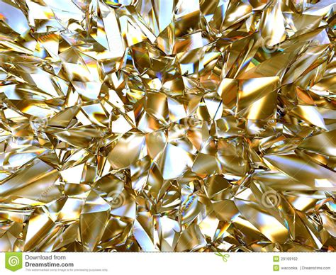 abstract gold crystal glass background stock illustration
