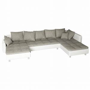 Ecksofa U Form : sofa vivara wei grau ecksofa von jalano wohnlandschaft u form couch garnitur ebay ~ Eleganceandgraceweddings.com Haus und Dekorationen
