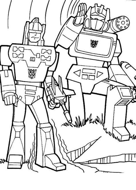 decepticons  transformers coloring page