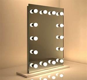 Spiegel 80 X 60 : make up spiegel met dimbare lampen 60 x 80 cm visagiespiegels ~ Bigdaddyawards.com Haus und Dekorationen