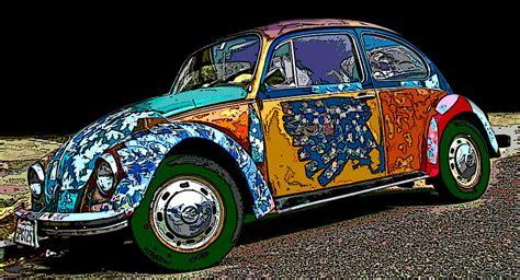 Hippie Vw Bug Photograph By Samuel Sheats