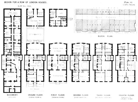 images  townhouse floor plans  pinterest