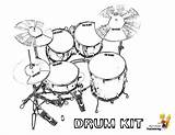Drum Coloring Pages Drums Kit Printable Printables Musical Boys Yescoloring Kits Pounding Percussion sketch template